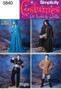 5840 Simplicity Pattern: Misses', Men's and Teen's Costumes